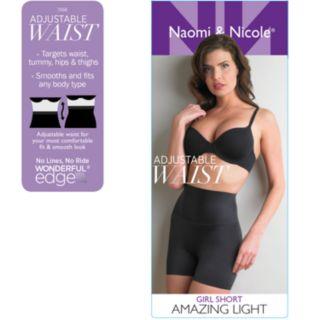 Women's Naomi & Nicole® Amazing Light® Adjustable Waist Thigh Slimmer Girlshorts 7556