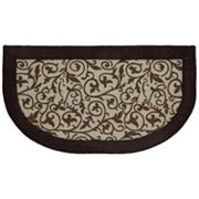 Mohawk Home Brown Leaves Memory Foam Kitchen Rug