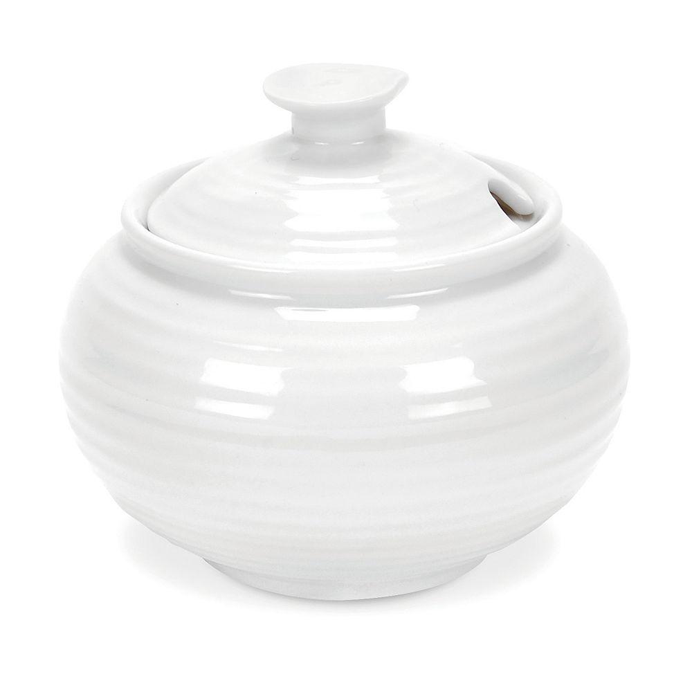 Portmeirion Sophie Conran White Covered Sugar Bowl