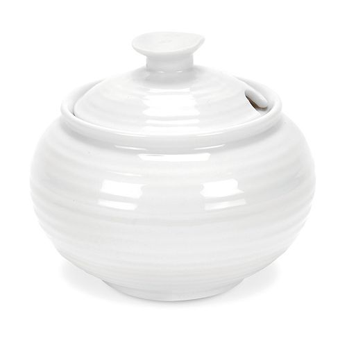 Portmeirion Sophie Conran White Covered Sugar Bowl