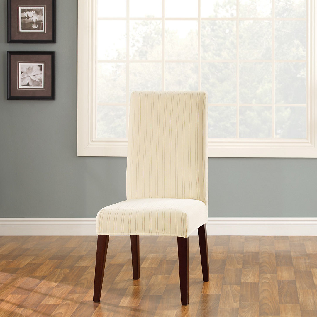 Pin Striped Dining Chair Slipcover