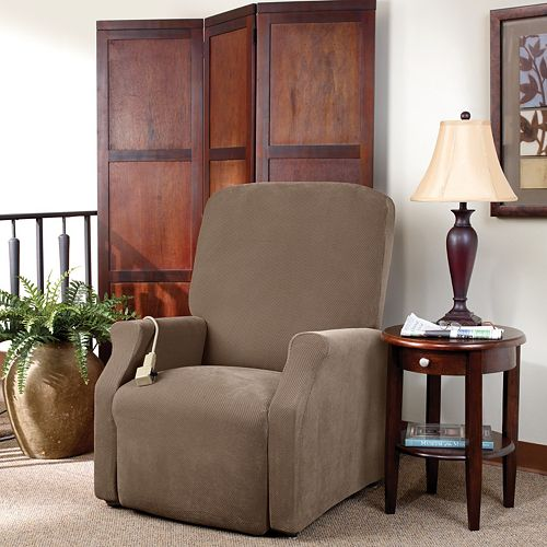 Sure Fit Stretch Pique Large Lift Recliner Slipcover