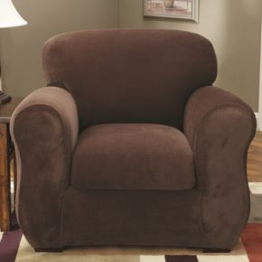 Sure Fit Stretch Pique 2-pc. Chair Slipcover