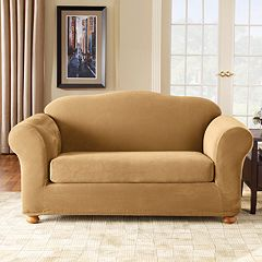 Sure Fit Stretch Pique 2-pc. Loveseat Slipcover