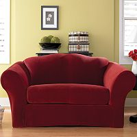 Sure Fit Stretch Pique 2 pc Loveseat Slipcover