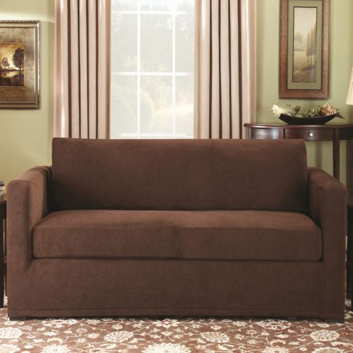 Sure Fit Stretch Pique 3 Pc Loveseat Slipcover