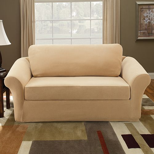 Sure Fit Stretch Pique 3-pc. Loveseat Slipcover