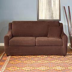 Sure Fit Stretch Pique 3 pc Sofa Slipcover
