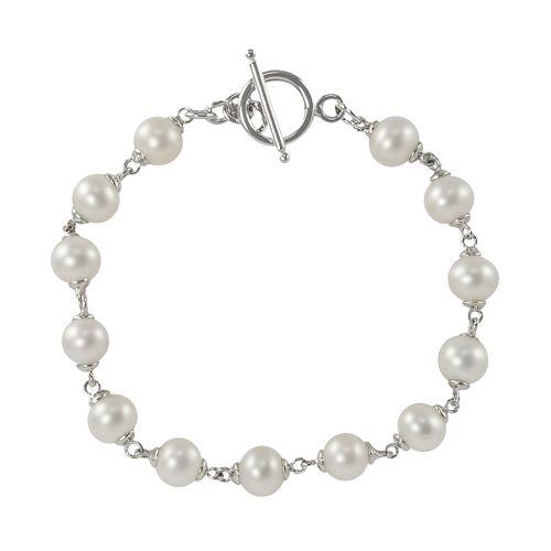Sterling Silver Freshwater Cultured Pearl Bracelet