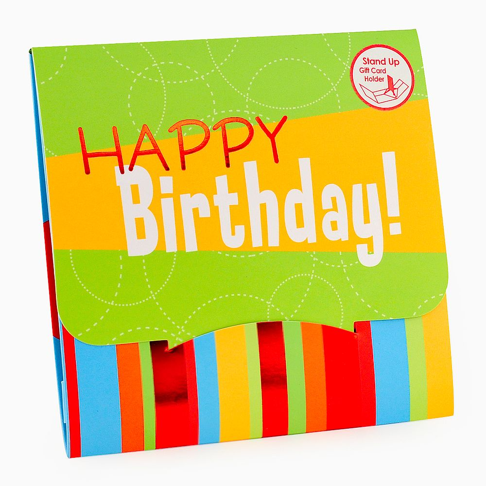 Card Impressions Happy Birthday Gift Card Holder – Birthday Gift Cards