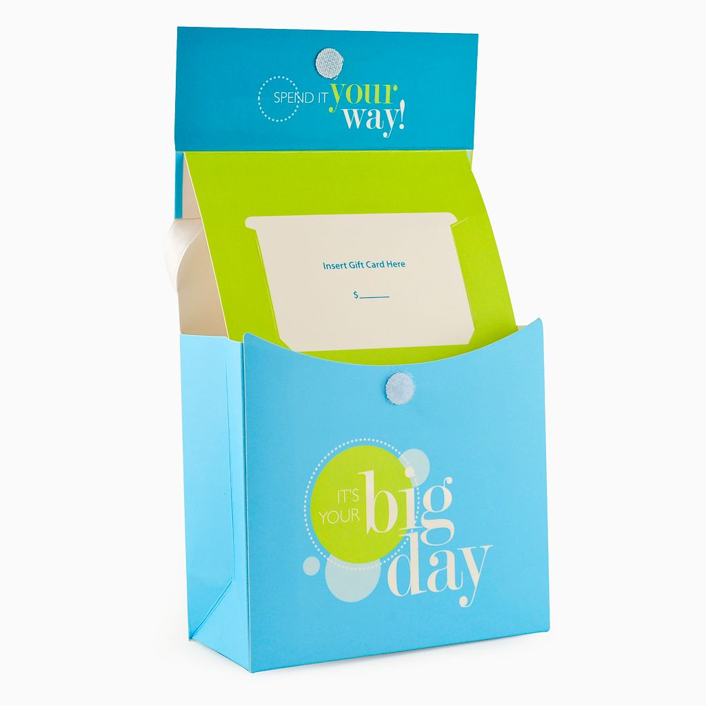 Gift Card Impressions It's Your Big Day Bag Gift Card Holder