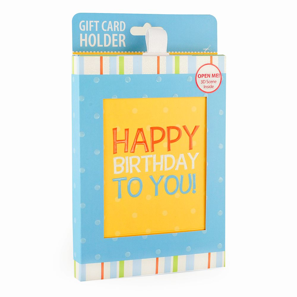 "Gift Card Impressions ""Happy Birthday To You"" Gift Card Holder"
