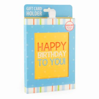 Gift Card Impressions Happy Birthday To You Gift Card Holder