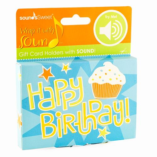 Gift Card Impressions Happy Birthday Sound Gift Card Holder