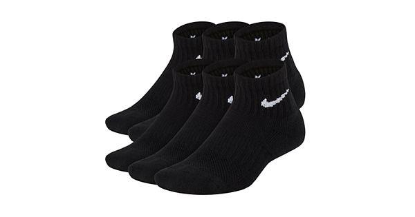 Boys 8 20 Nike 6 Pk Performance Quarter Socks