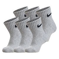 Boys 8-20 Nike 6-pk. Performance Quarter Socks