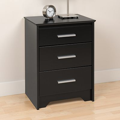 Prepac Coal Harbor 3-Drawer Nightstand