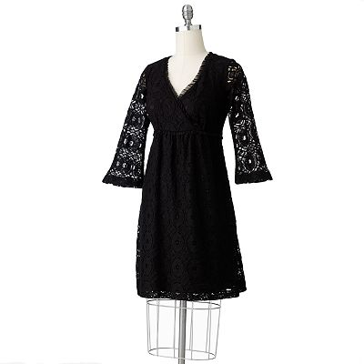 Ronni Nicole Lace Surplice Dress