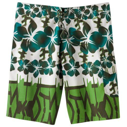 Beach Rays Hibiscus Board Shorts