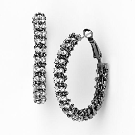 Simply Vera Vera Wang Wrapped Hoop Earrings