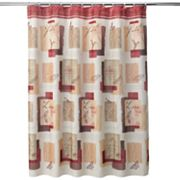 Inspire Block Fabric Shower Curtain