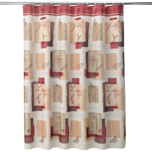 Inspire Block Fabric Shower Curtain