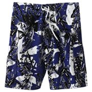 Beach Rays Palm Leaf E-Board Shorts