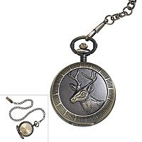 Men's Deer Pocket Watch