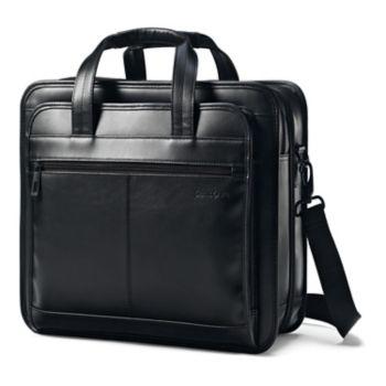 Samsonite Classic Leather File Laptop Briefcase