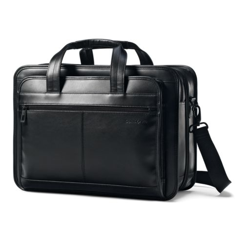Samsonite Luggage, Classic Expandable Leather 15.6-in. Laptop Briefcase