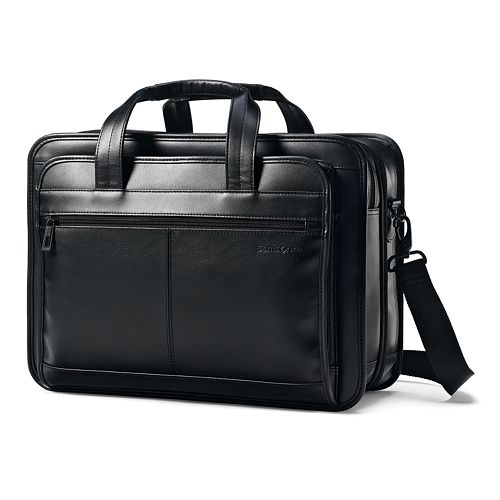 Samsonite Classic Leather File Laptop Briefcase