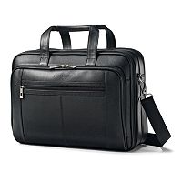 Samsonite Classic Leather Laptop Briefcase