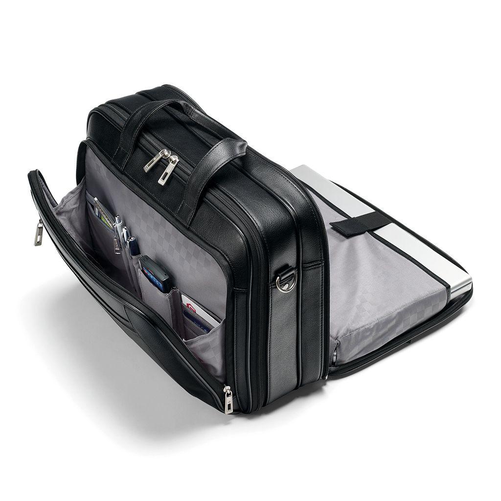 Samsonite Classic Leather Laptop Briefcase