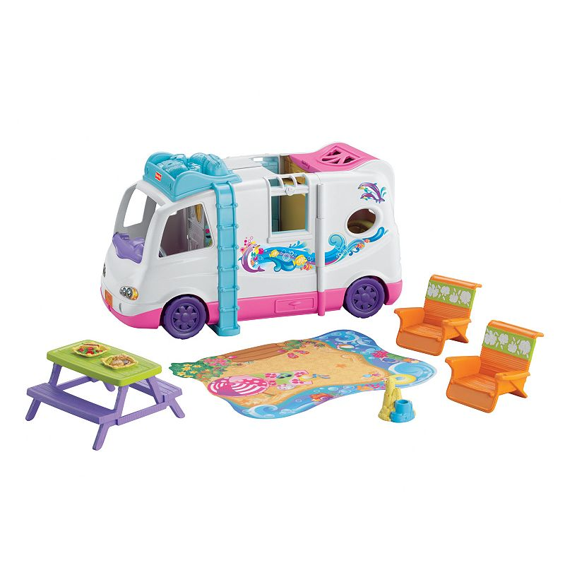 Fisher-Price Loving Family Beach Vacation Mobile Home, Multicolor