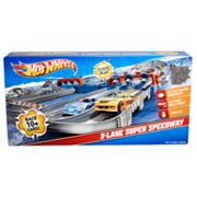 Hot Wheels 3-Lane Super Speedway Playset by Mattel