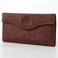 Buxton Heiress Floral Organizer Leather Clutch Wallet