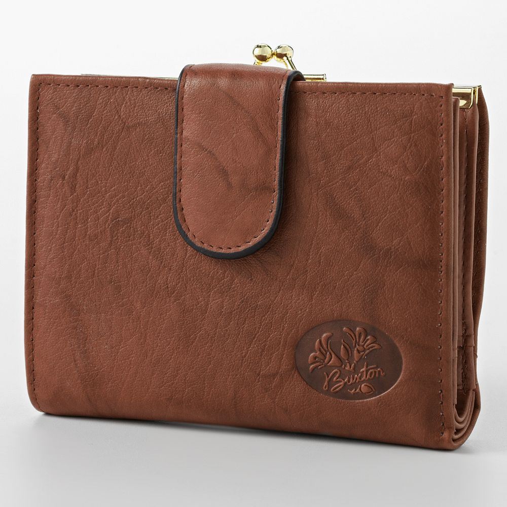 Buxton Heiress Double-Cardex Floral Leather Wallet