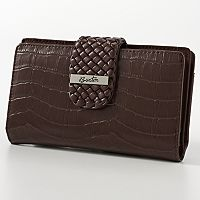 Buxton Everglades Crocodile Organizer Super Wallet