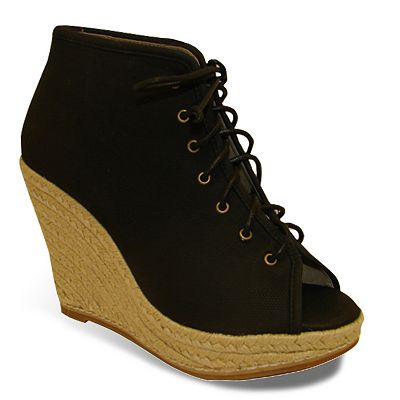 Bucco Peep-Toe Wedge Booties - Women