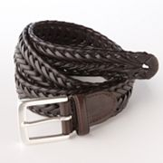 Chaps Braided Leather Belt