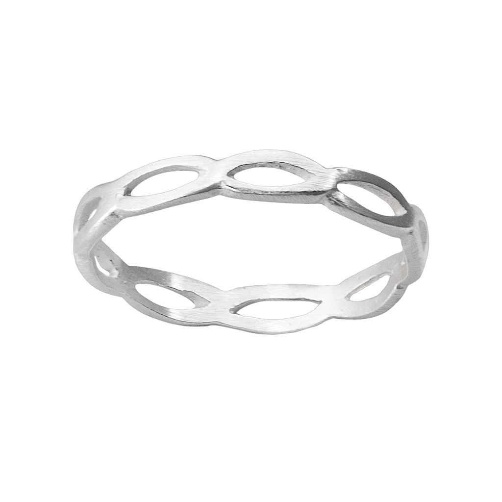 Sterling Silver Openwork Oval Ring
