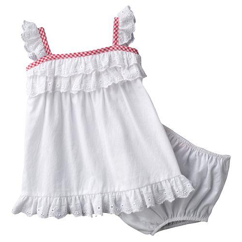 Chaps Eyelet Dress - Baby