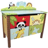 Teamson Kids Fantasy Fields Sunny Safari Toy Box
