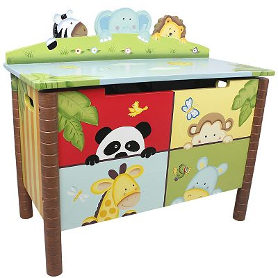 Teamson Kids Sunny Safari Toy Box