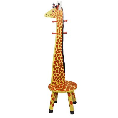 Teamson Kids Animal Stool and Coat Rack