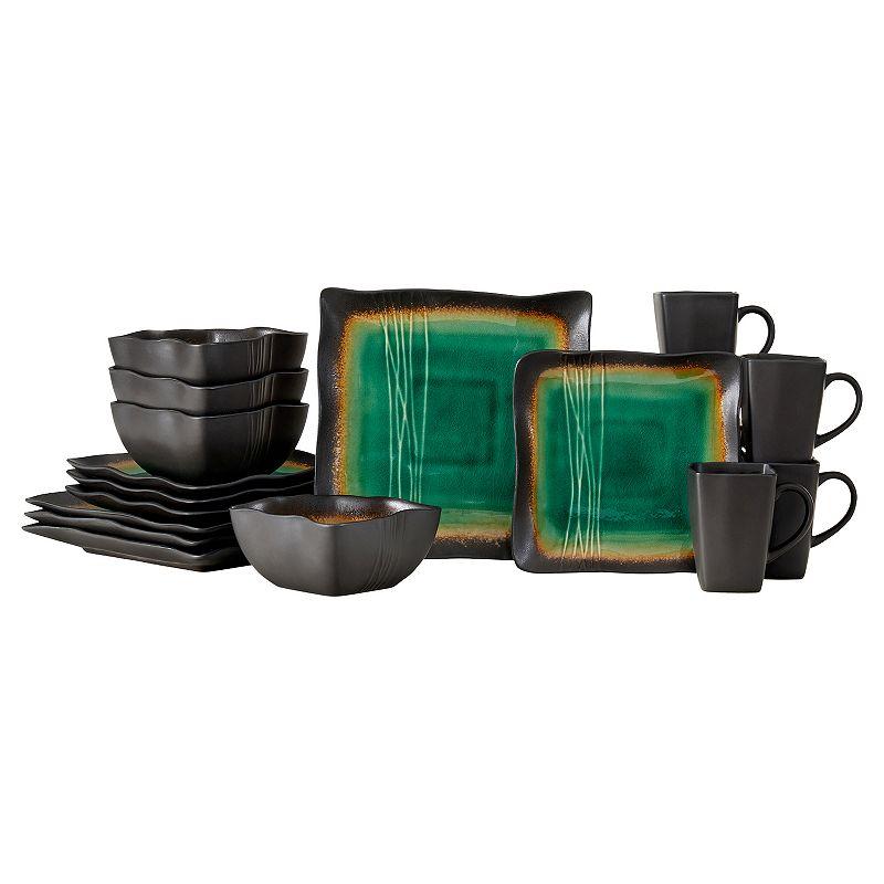 Baum Galaxy Jade 16-pc. Dinnerware Set, Green