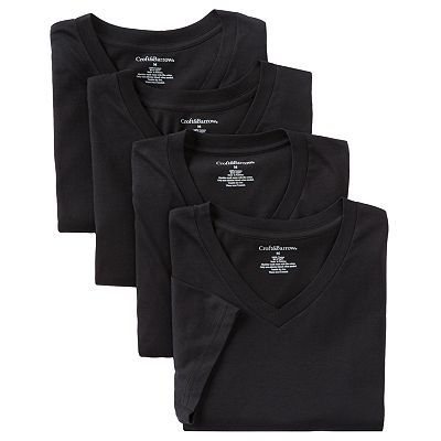 Croft and Barrow 4-pk. V-Neck Tee