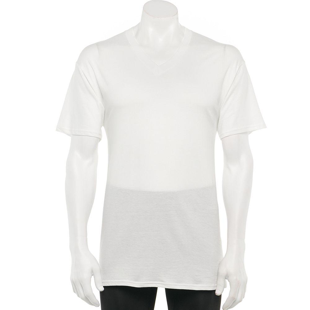 Black t shirts kohls - Men S Croft Barrow 6 Pk V Neck Tee