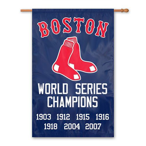 Boston Red Sox Dynasty Banner Flag