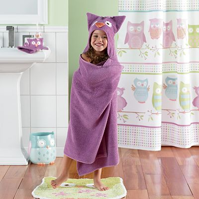 Jumping Beans Olivia The Owl Bath Wrap